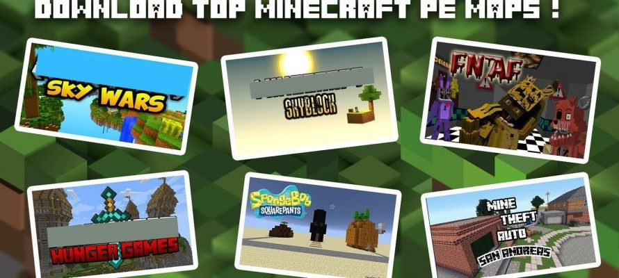 Download de 1600 Mapas para o Minecraft PE gratis