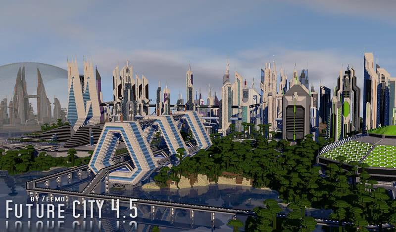 Mapa Future city Minecraft