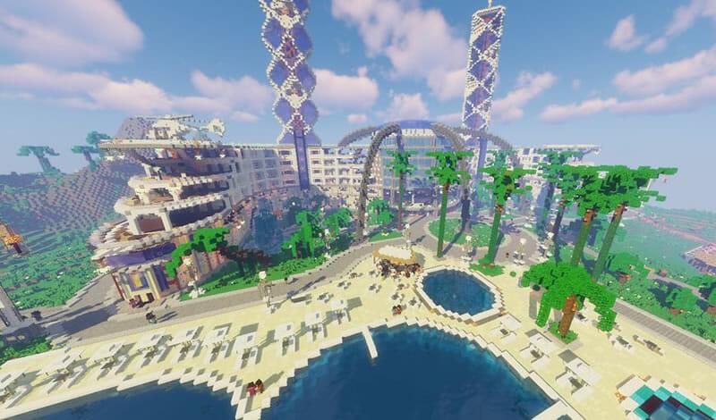 Mapa Island Resort Minecraft